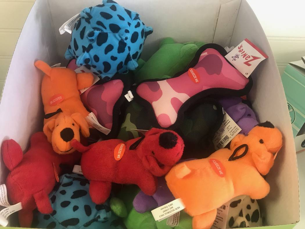 Toys for sale are displayed on August 19, 2017 at Kim's Passion for Paws, shaving dog on August 19, 2017 at 3940 N. M.L.K. Blvd. (Kailyn Brown/ View)