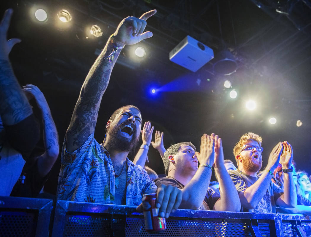 Fans cheer for Toke at The Vinyl stage during Psycho Las Vegas on Friday, Aug 18, 2017, at the Hard Rock hotel-casino, in Las Vegas. Benjamin Hager Las Vegas Review-Journal @benjaminhphoto