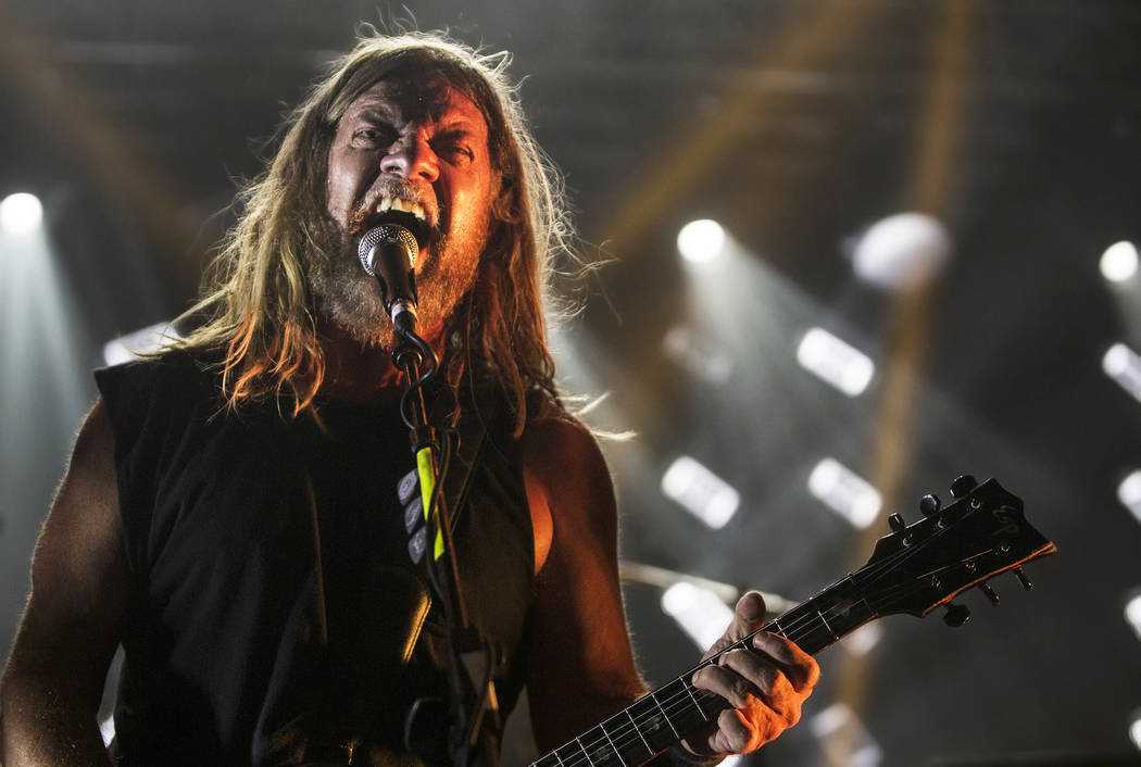 Corrosion of Conformity frontman Pepper Keenan performs at The Joint during Psycho Las Vegas on Sunday, Aug 20, 2017, at the Hard Rock hotel-casino, in Las Vegas. Benjamin Hager Las Vegas Review-J ...