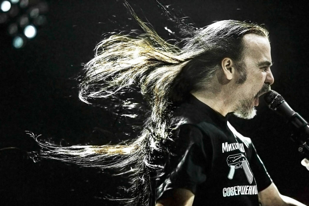 Carcass frontman Jeff Walker performs at The Joint during Psycho Las Vegas on Saturday, Aug 19, 2017, at the Hard Rock hotel-casino, in Las Vegas. Benjamin Hager Las Vegas Review-Journal @benjamin ...