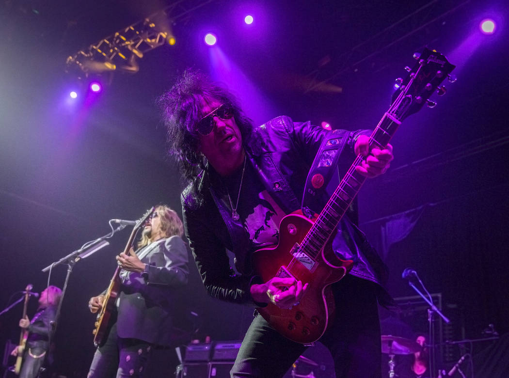 Ace Frehley and band perform during Psycho Las Vegas on Saturday, Aug 19, 2017, at the Hard Rock hotel-casino, in Las Vegas. Benjamin Hager Las Vegas Review-Journal @benjaminhphoto