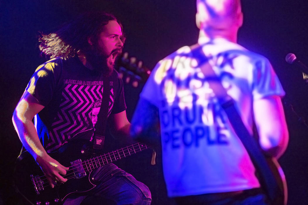 London-based stoner metal band Elephant Tree performs on The Vinyl stage during Psycho Las Vegas on Saturday, Aug 19, 2017, at the Hard Rock hotel-casino, in Las Vegas. Benjamin Hager Las Vegas Re ...