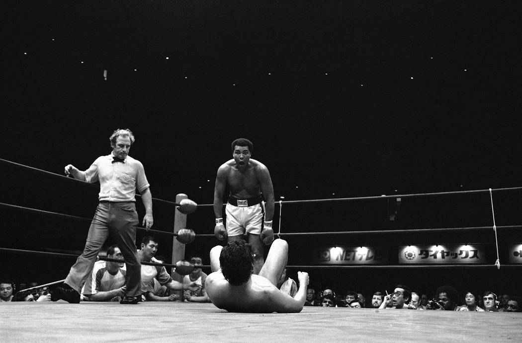 Muhammad Ali couldn't get to punch, sting like a bee or ropeadope wrestler Antonio Inoki so he just stood over his opponent and made faces at him during their 15-round encounter at Tokyo?s Budokan ...