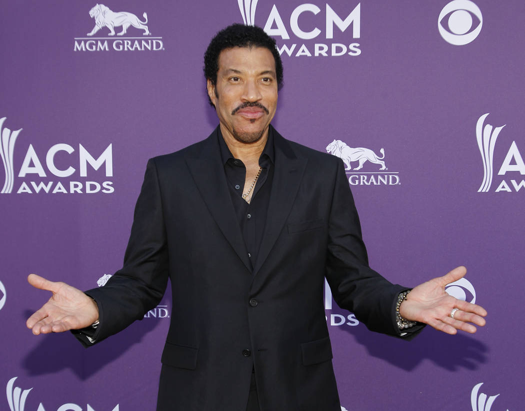 Lionel Richie arrives at the 47th Annual Academy of Country Music Awards in Las Vegas, April 1, 2012. (Isaac Brekken/File, AP)