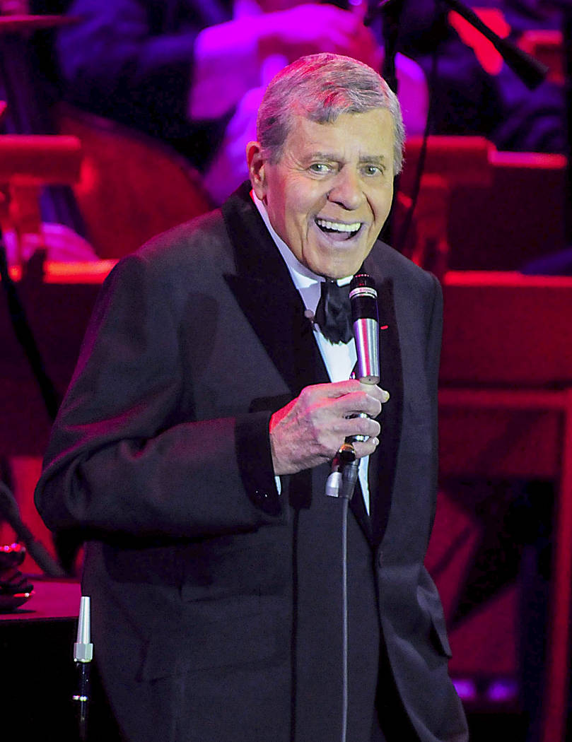 Jerry Lewis performs An Evening with Jerry Lewis- Live from Las Vegas PBS Television Special celebrating 75 years in show business at The Orleans Hotel & Casino Showroom in Las Vegas, Nevada N ...