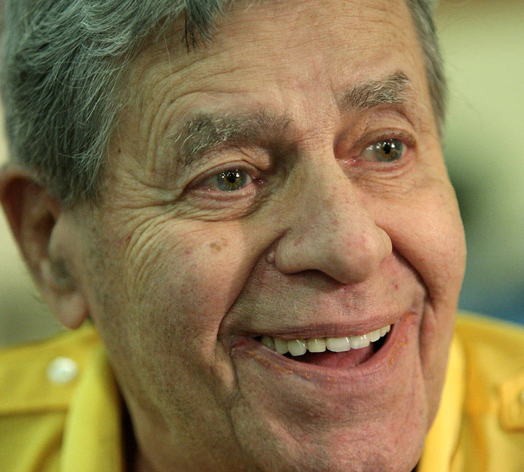 Legendary actor/comedian Jerry Lewis takes part in an interview at the South Coast hotel-casino on Thursday, August 26, 2010, in Las Vegas. Lewis is scheduled to host his annual televised Jerry Le ...