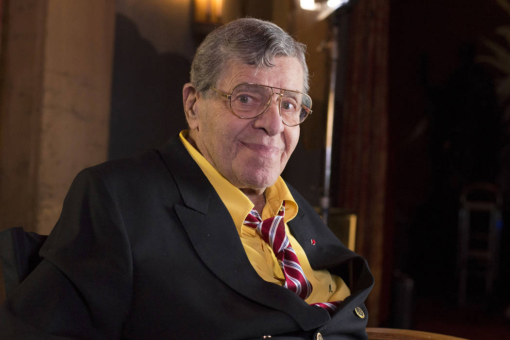 Actor and comedian Jerry Lewis poses during an interview April 12, 2014, at TCL Chinese Theatre in Los Angeles. The 91-year-old comedian was taken to the hospital on Friday, June 2, 2017, so that  ...