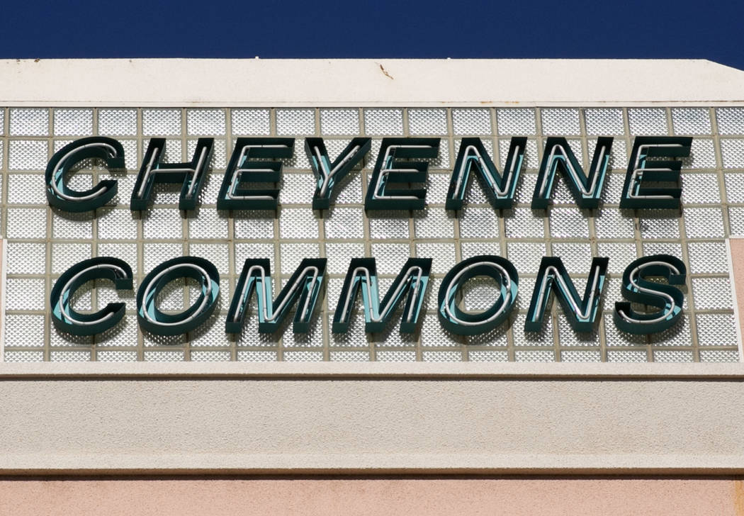 Cheyenne Commons' sign on its 35-acre property at the southwest corner of Rainbow Boulevard and Cheyenne Avenue on Tuesday, Aug. 22, 2017, in Las Vegas. (Bizuayehu Tesfaye/Las Vegas Review-Journal ...
