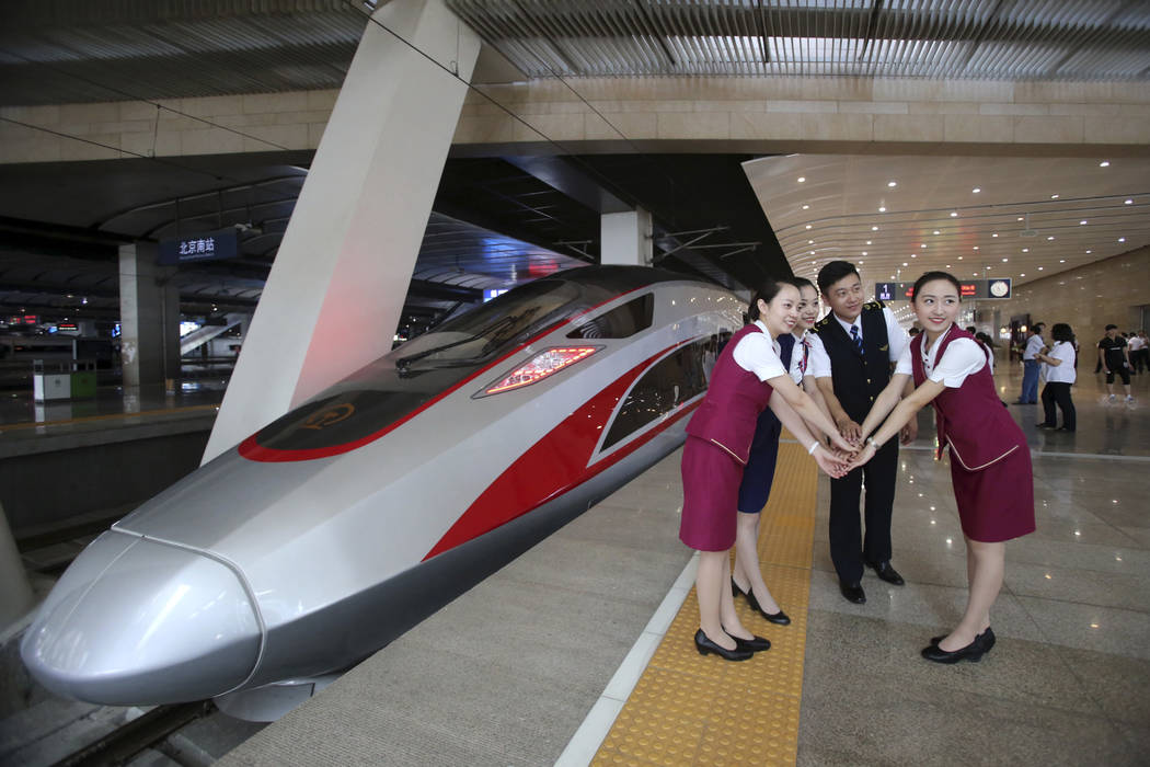 Bullet trains ready to lay on the speed