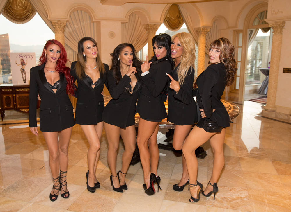 """The celebration of the 500th performance and second year of """"Sexxy"""" at Westgate on  May 8 in Las Vegas. The topless temptresses hosted the Modelo Monday party at the hotel's Playground pool. (Er ..."""