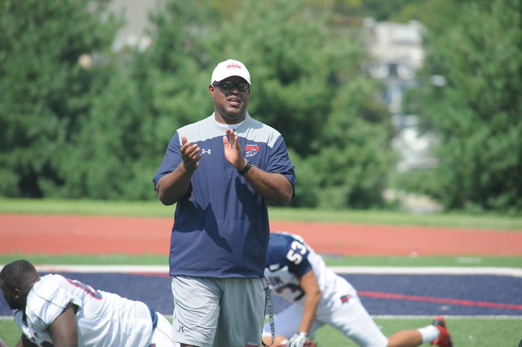 First-year coach Mike London, who won a national championship at Richmond and led Virginia to the Chick-fil-A Bowl, and Howard University will provide the opposition for UNLV in the 2017 college f ...