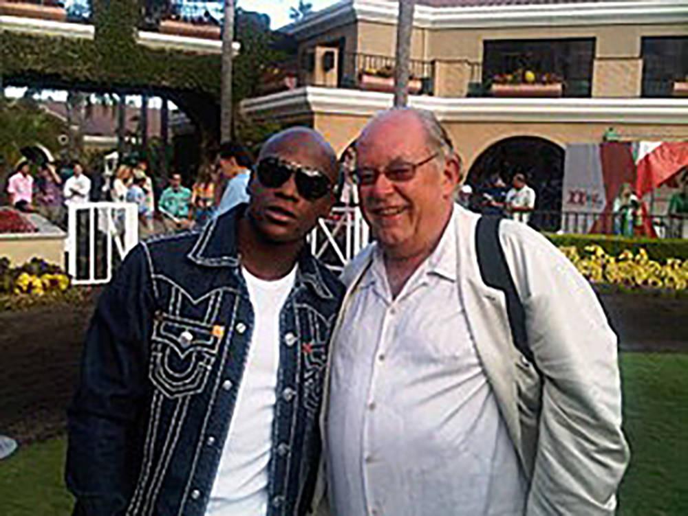 """Floyd """"Money"""" Mayweather and Robin Leach. (Courtesy)"""