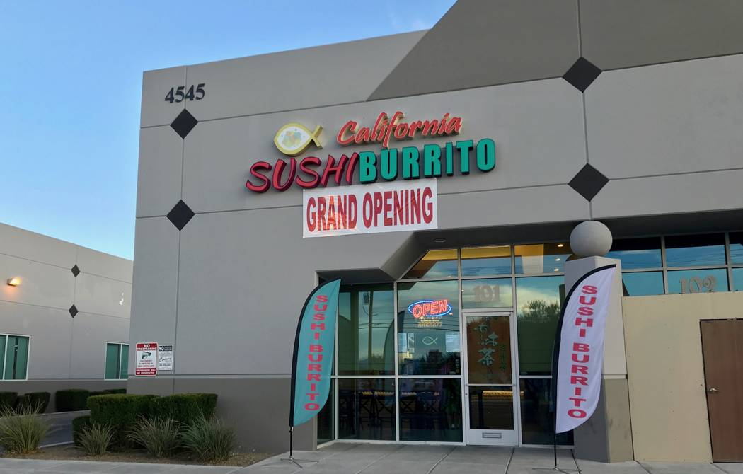California Sushi Burrito is located on West Spring Mountain Road and Stober Boulevard. After 10 months of planning, the restaurant opened to the public in July. (Madelyn Reese/View) @MadelynGReese