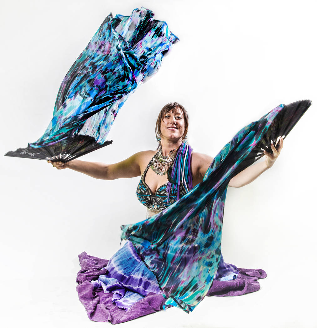 Fire performer Michelle Clifford on Tuesday, Aug 22, 2017, at the Review-Journal studios, in Las Vegas. Benjamin Hager Las Vegas Review-Journal @benjaminhphoto