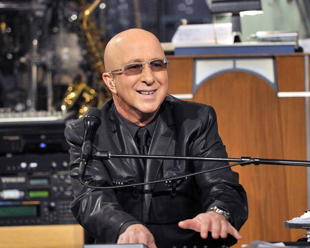 "Paul Shaffer, shown on ""The Late Show"" with David Letterman, is headlining at Cleopatra's Barge at Caesars Palace around the holidays in December and January. (CBS)"