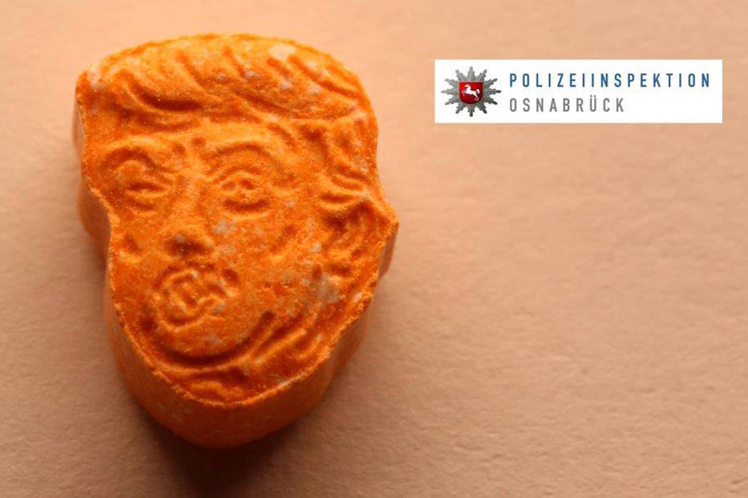 German police say they have seized thousands of ecstasy pills in the shape of President Donald Trump's head, a haul  with an estimated street value of 39,000 euros ($45,900). (Police Osnabrueck  ...
