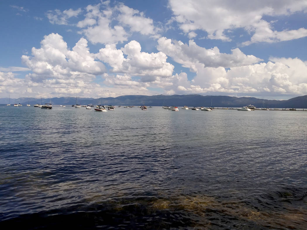 Boats float on Lake Tahoe on Tuesday near South Lake Tahoe, Calif., during the 21st Annual Lake Tahoe Summit Tuesday, Aug. 22, 2017. Ben Botkin Las Vegas Review-Journal