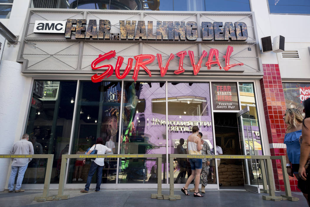The new attraction, Fear the Walking Dead: Survival, located on Fremont Street Experience in downtown Las Vegas, Tuesday, Aug. 22, 2017. Elizabeth Brumley Las Vegas Review-Journal