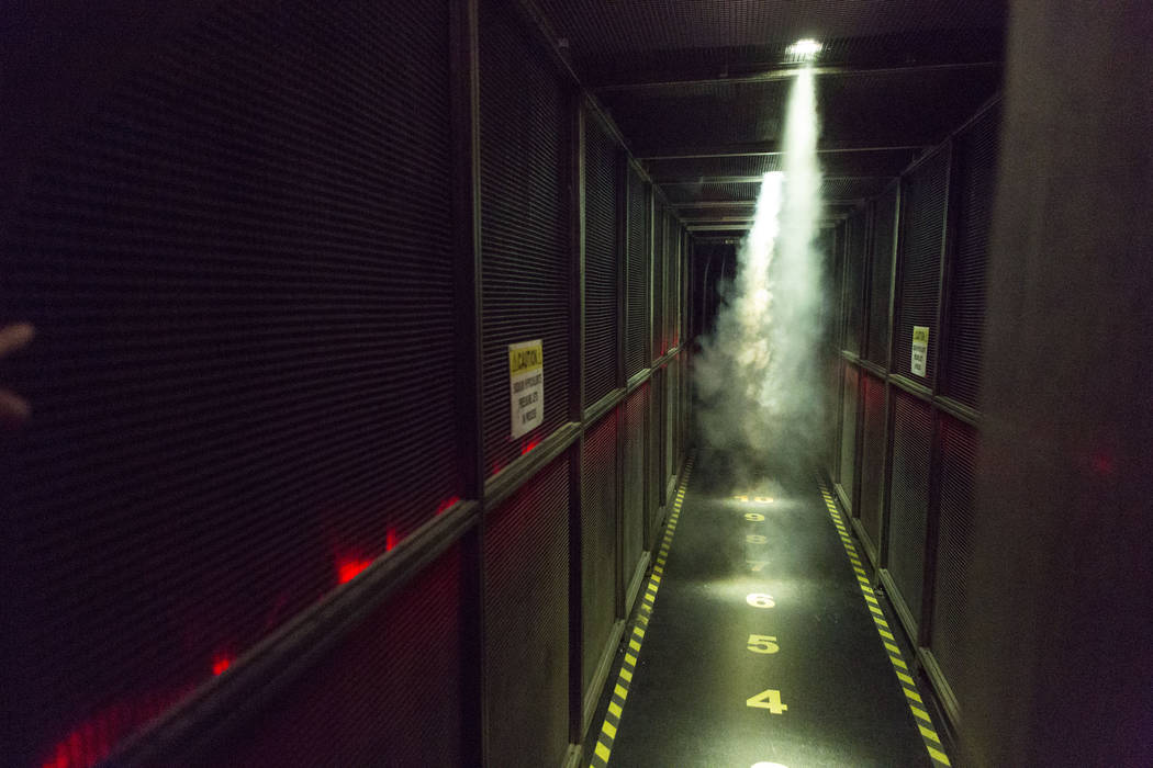 A hallway inside of the new attraction, Fear the Walking Dead: Survival, located on Fremont Street Experience in downtown Las Vegas, Tuesday, Aug. 22, 2017. Elizabeth Brumley Las Vegas Review-Journal