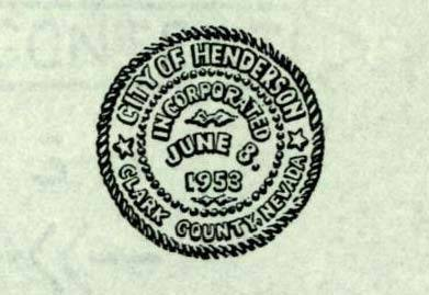 The City of Henderson's original seal. (Courtesy)