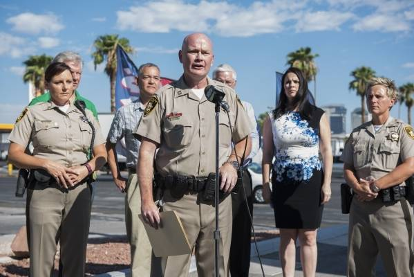 Capt. Brian Greenway took the lead at the Spring Valley Area Command when it opened a year ago in August. (Martin S. Fuentes/Review-Journal)