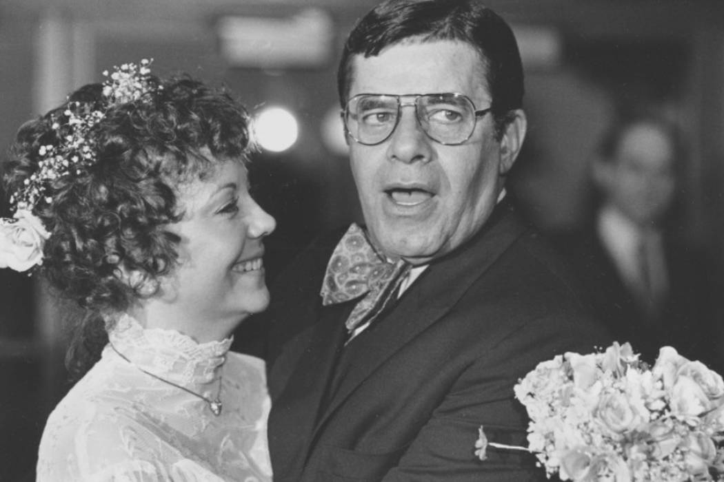 "SanDee ""Sam"" Lewis and Jerry Lewis are shown on their wedding day in Key Biscayne, Fla., on Feb. 13, 1983. (Lewis family)."