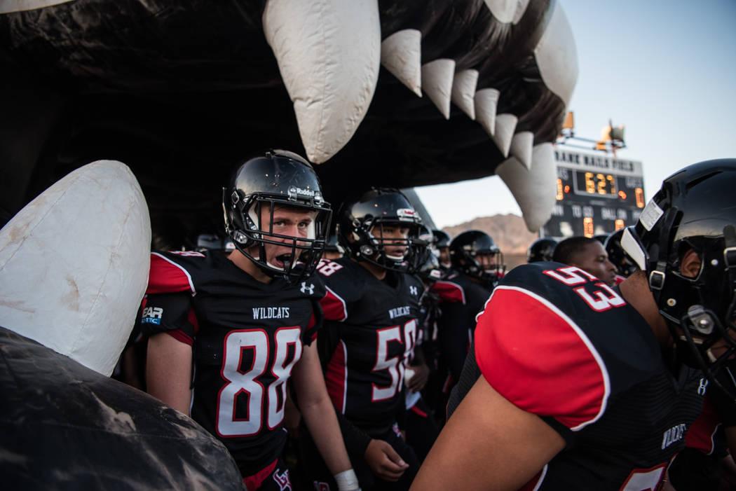 Las Vegas High School Wildcat wide receiver Zakquery Hernandez gets ready to leave the tunnel at Las Vegas High School on Friday, Aug. 25, 2017, in Las Vegas. Morgan Lieberman Las Vegas Review-Journal