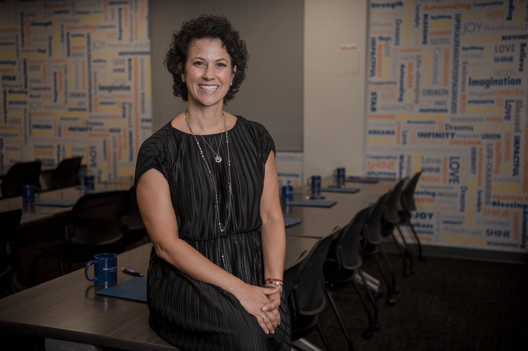 Caroline Ciocca, president and CEO of Make-A-Wish of Southern Nevada, in the Southern Nevada headquarters, on Wednesday, Aug. 23, 2017, in Summerlin. Morgan Lieberman Las Vegas Review-Journal