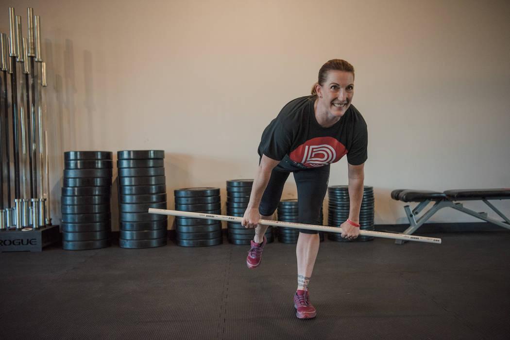 Elizabeth Higgins trains at Branded One Cross Fit on Thursday, Aug. 25, 2017, in Las Vegas. Morgan Lieberman Las Vegas Review-Journal
