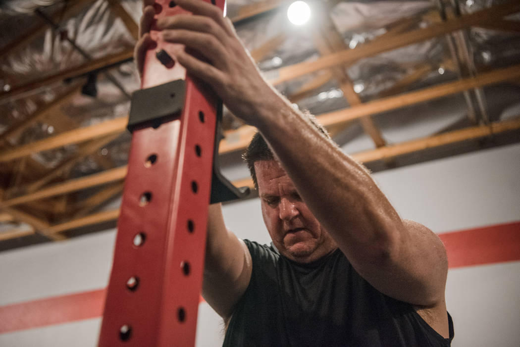 Gary Bartusch trains at Branded One Cross Fit on Thursday, Aug. 25, 2017, in Las Vegas. Morgan Lieberman Las Vegas Review-Journal