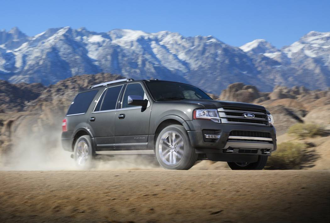 This photo provided by Ford shows the 2017 Ford Expedition. Edmunds reports that this full-size SUV currently has discounts in the $12,600 range, depending on package and region. (Courtesy of The  ...