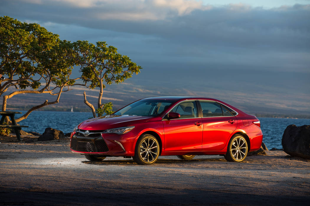This photo provided by Toyota shows the 2017 Toyota Camry. Edmunds reports that this midsize sedan currently has discounts in the $6,500 range, depending on package and region. (David Dewhurst Pho ...