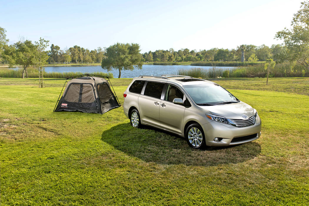 This photo provided by Toyota shows the 2017 Toyota Sienna. Edmunds reports that this minivan currently has discounts in the $7,200 range, depending on package and region. (Courtesy of Toyota Moto ...