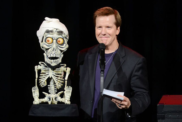 Jeff Dunham appears with his puppet Achmed the Dead Terrorist at the Colosseum at Caesars Palace. (Denise Truscello)