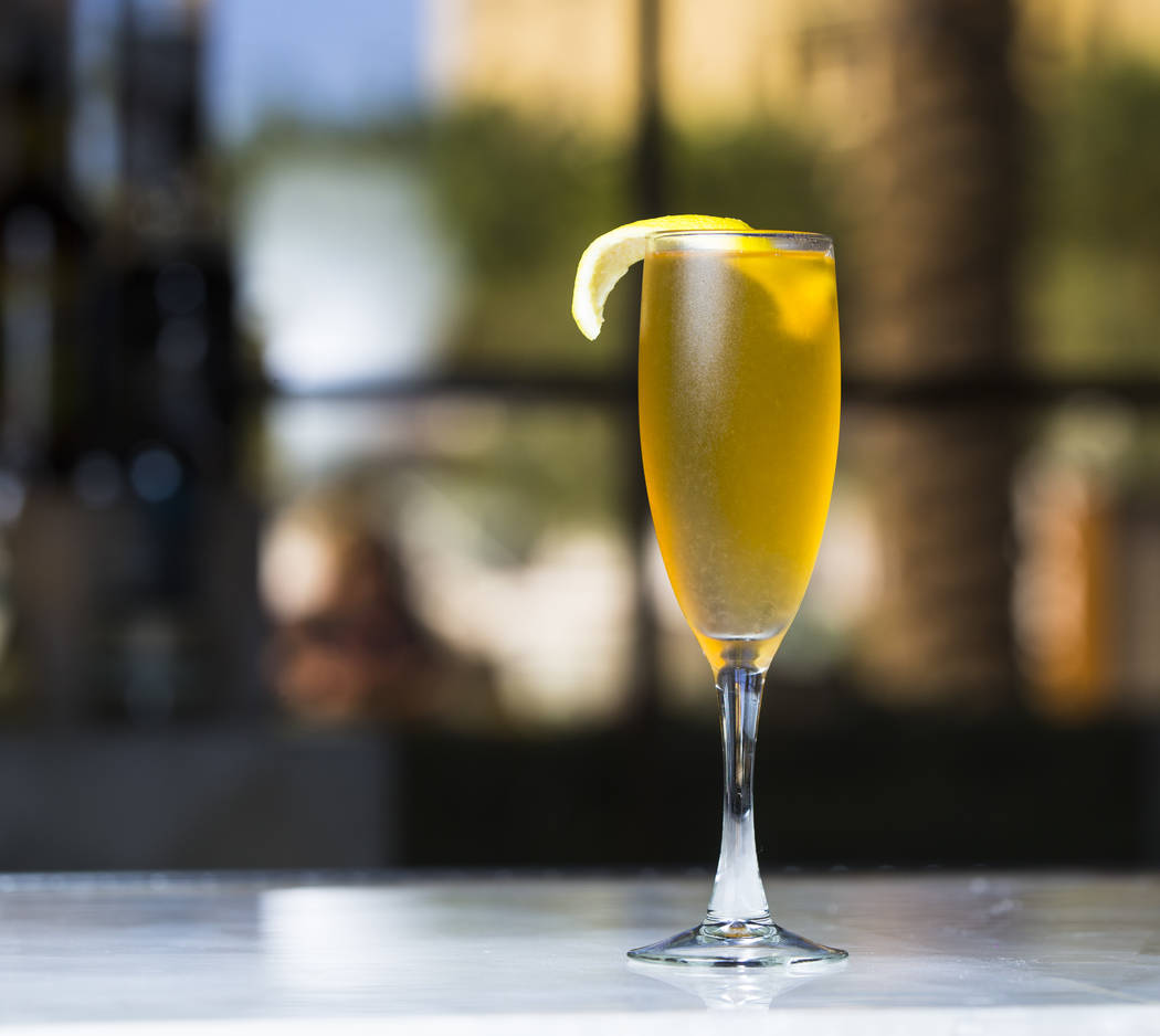 The X-Rated Passion cocktail at the lobby bar at Green Valley Ranch in Henderson on Thursday, Aug. 24, 2017. Chase Stevens Las Vegas Review-Journal @csstevensphoto