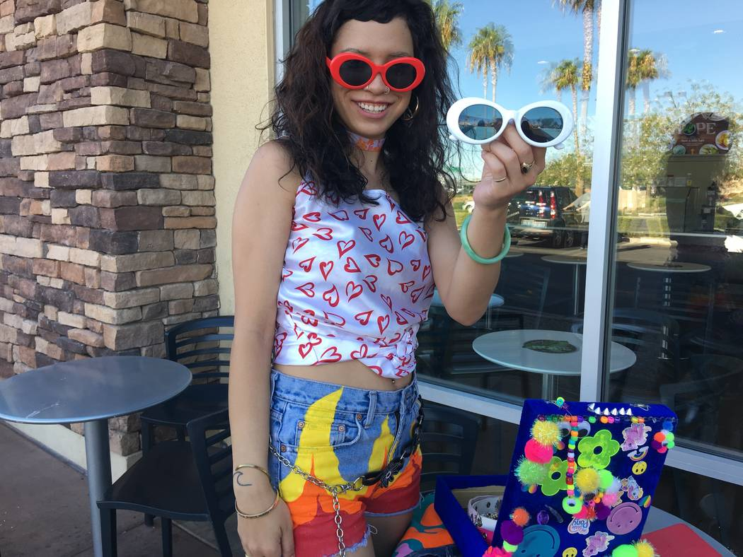 Malia Yanos, 23, of the northwest valley showing off Trippy Neon products on August 22, 2017. (Kailyn Brown/ View) @KailynHype