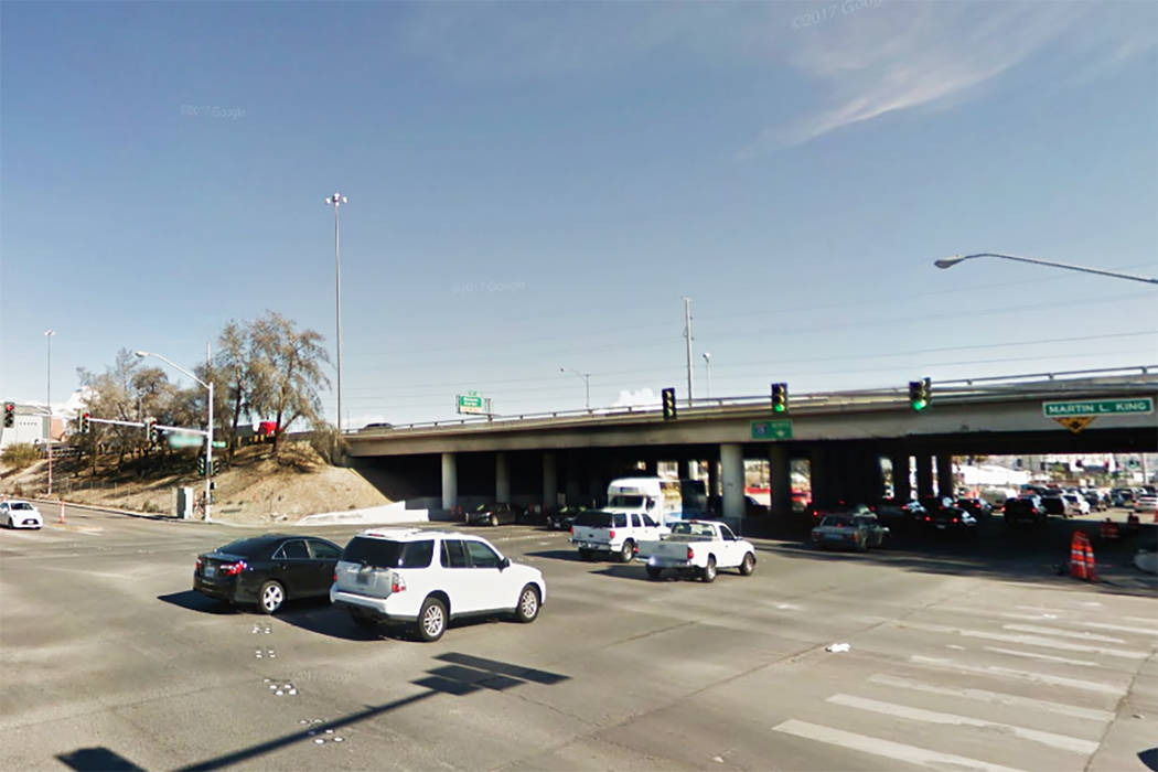 Charleston Blvd. and Martin Luther King Blvd. in Las Vegas. (Google Street View)