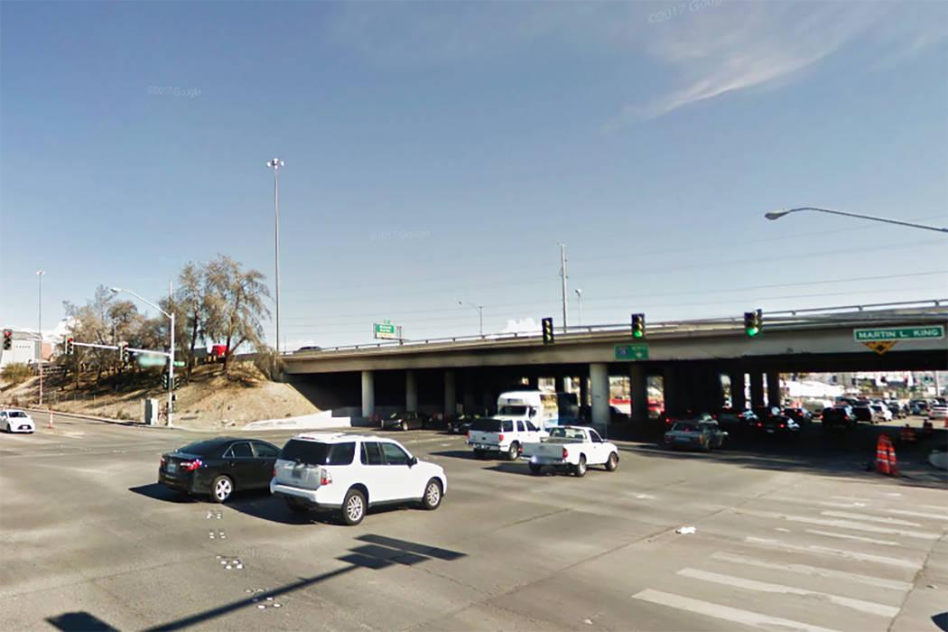 Charleston Blvd. and Martin Luther King Blvd. in Las Vegas. (Google Street View)