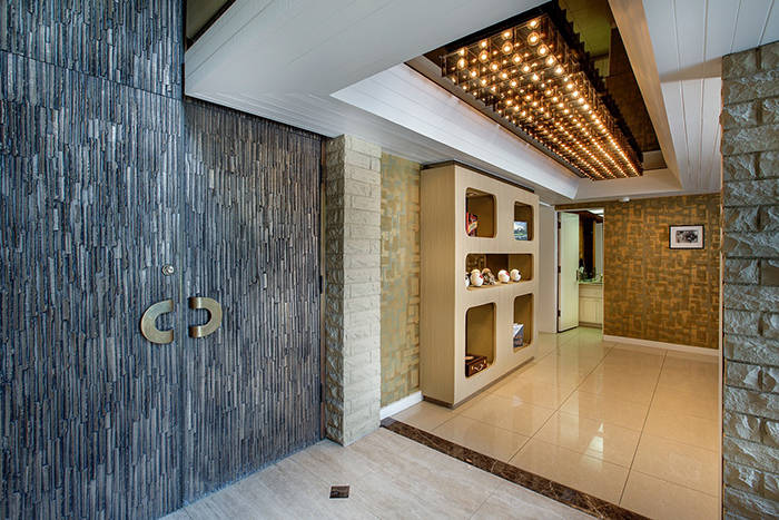 The heavy front doors are bullet-proof. (Synergy/Sotheby's International Realty)