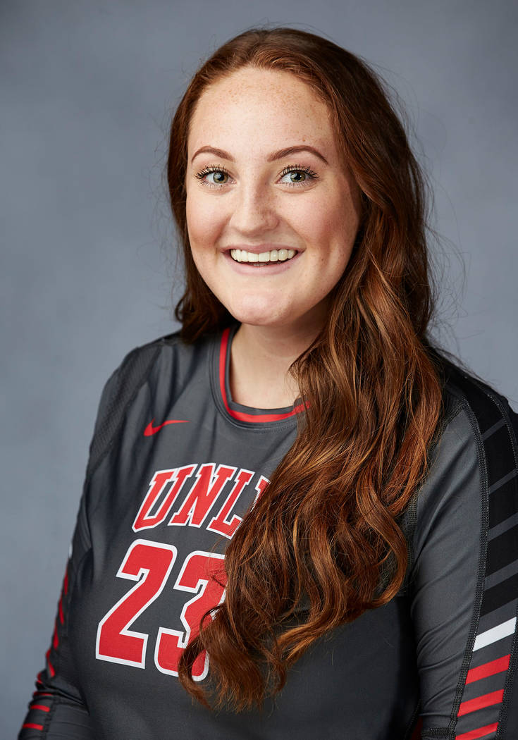 UNLV volleyball senior Lia Herlosky. (UNLV Athletics)
