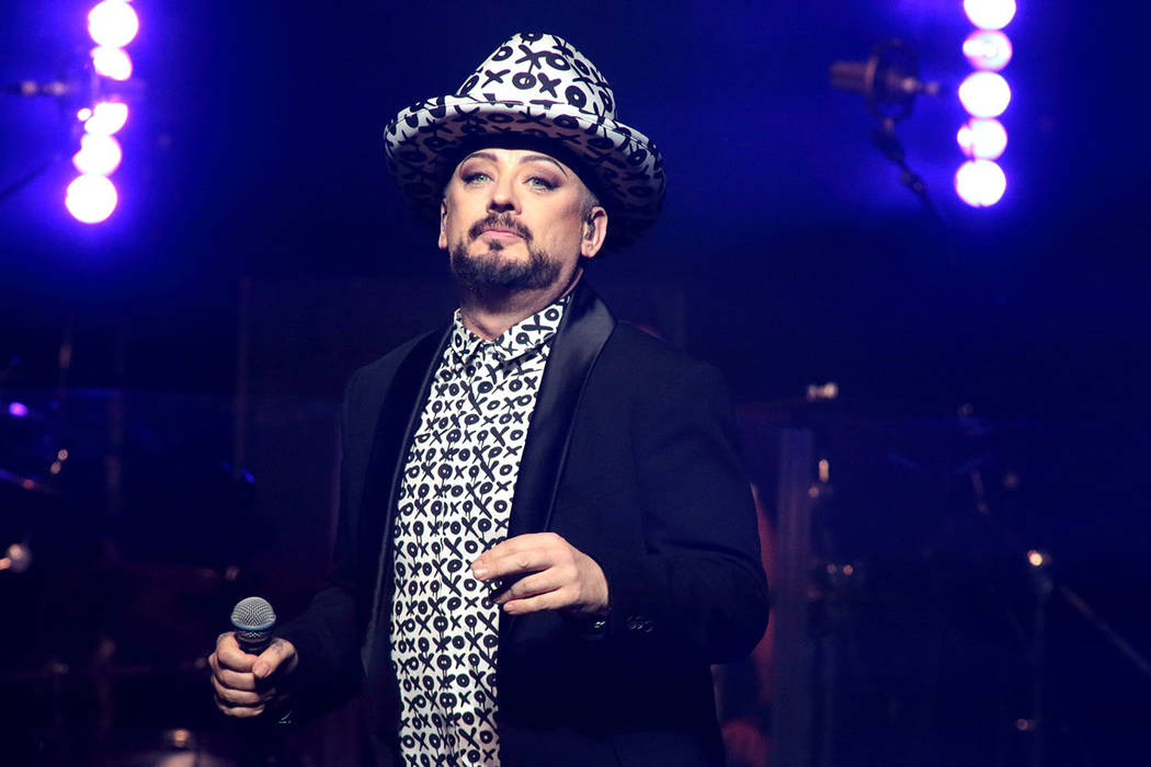 Boy George of the band Culture Club performs in concert at The Electric Factory on Friday, Sept. 9, 2016, in Philadelphia. (Photo by Owen Sweeney/Invision/AP)