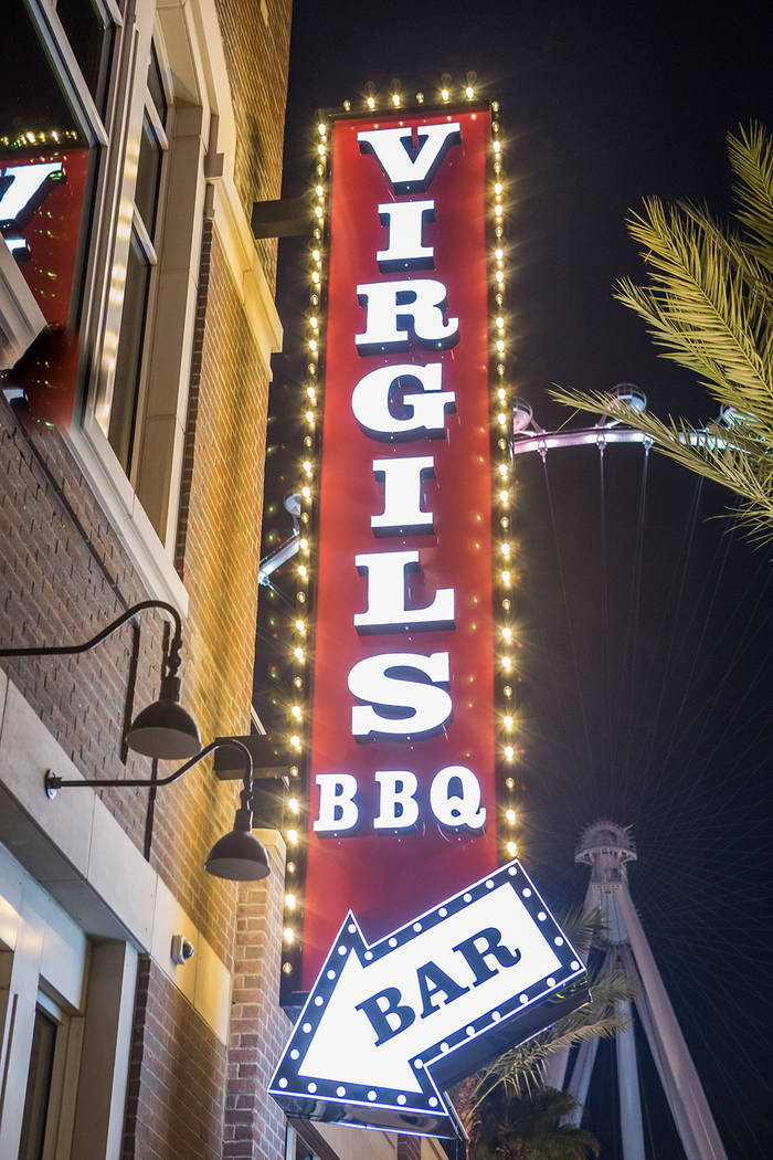 Virgil's Real Barbecue opened at The LINQ Promenade in December. (Courtesy)