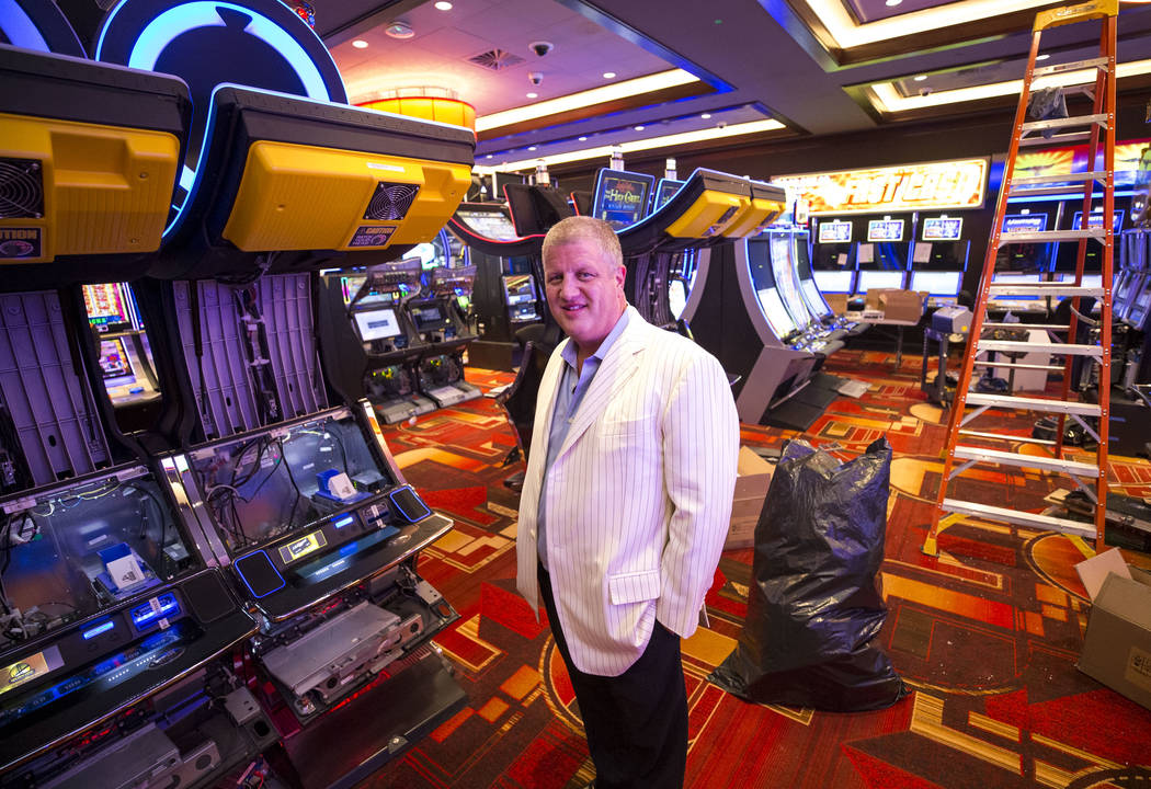 CEO Derek Stevens in the newly expanded casino floor at the Golden Gate hotel-casino on Thursday, Aug. 25, 2017, in downtown Las Vegas. Richard Brian Las Vegas Review-Journal @vegasphotograph