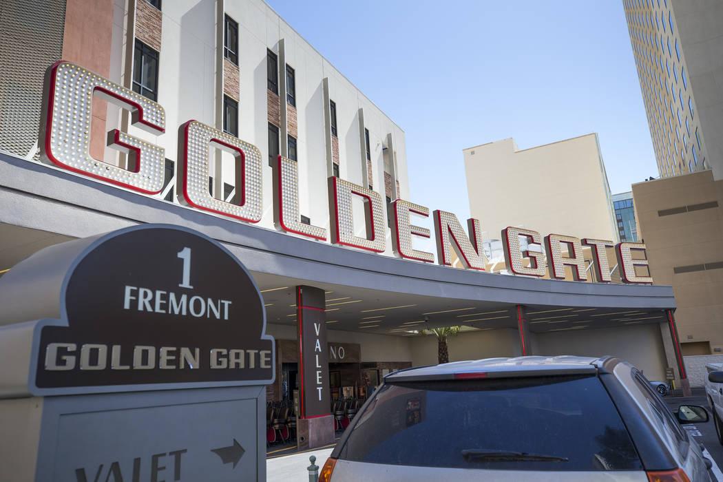 The Main Street entrance to the Golden Gate hotel-casino on Thursday, Aug. 25, 2017, in downtown Las Vegas. Richard Brian Las Vegas Review-Journal @vegasphotograph