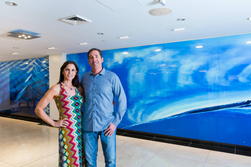 Empty-nesters but not yet retired, Mike and Anastasia Olson are enjoying life and having fun at One Las Vegas, the twin-tower, high-rise community on the south end of Las Vegas Boulevard.  (One La ...