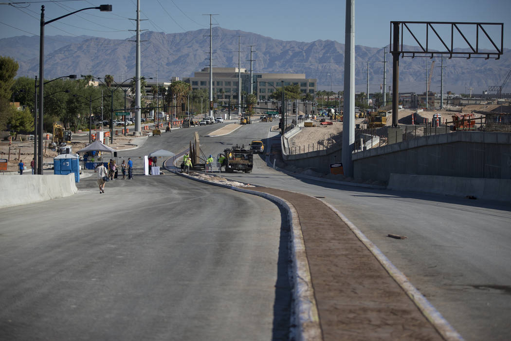 Contruction on the new Martin Luther King Boulevard, between Bearden Drive and Ellis Avenue which is being built as part of Project Neon in Las Vegas, on Saturday, Aug. 26, 2017. Erik Verduzco Las ...