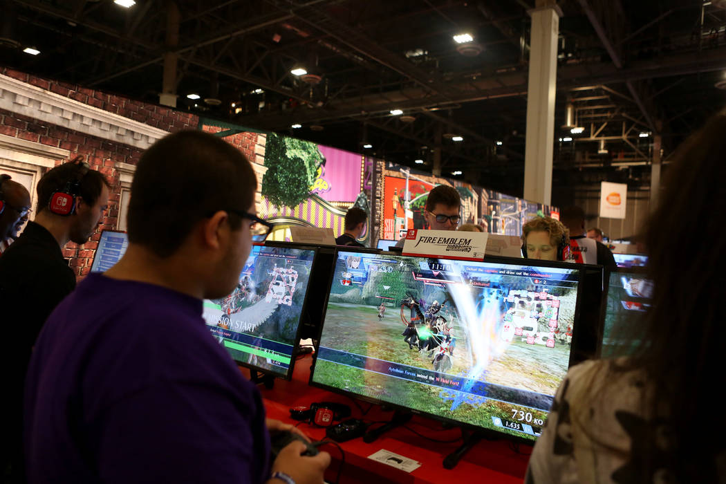 Games are tested during the 2017 GameStop Expo at the Sands Expo and Convention Center, Sunday, Aug. 27, 2017 . Elizabeth Brumley Las Vegas Review-Journal