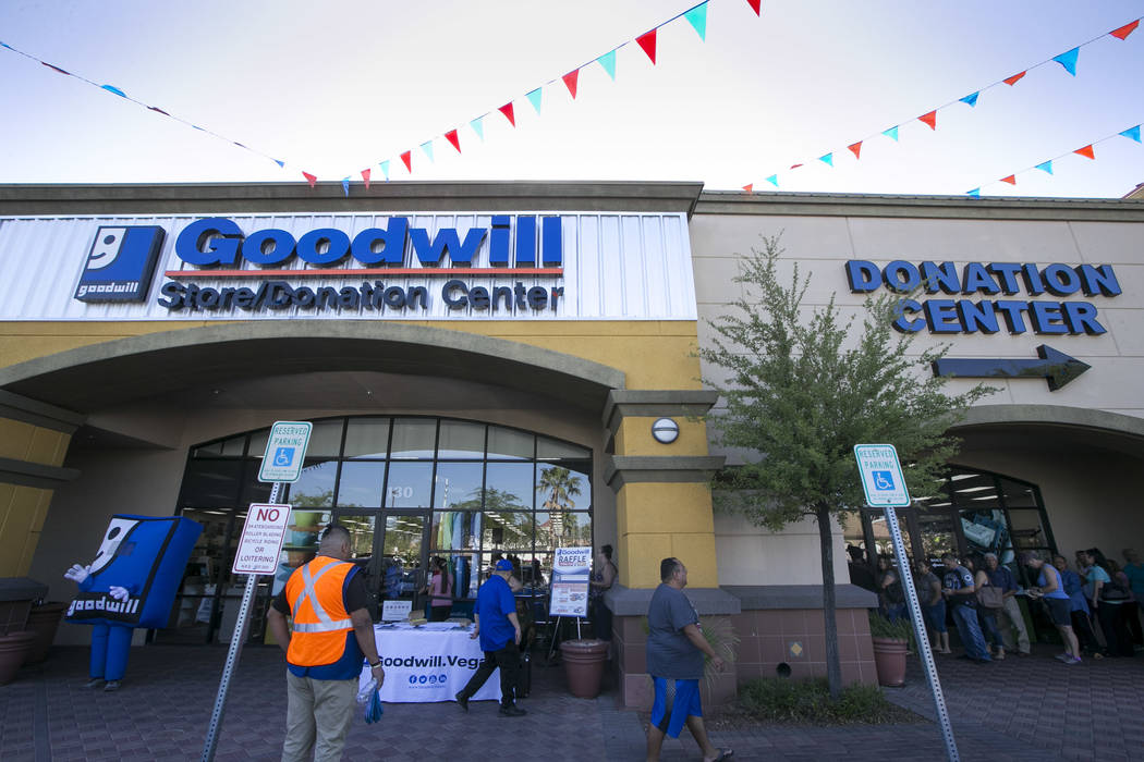 The Goodwill store at 9230 South Eastern Ave. in Las Vegas on Friday, June 2, 2017. (Richard Brian/Las Vegas Review-Journal) @vegasphotograph