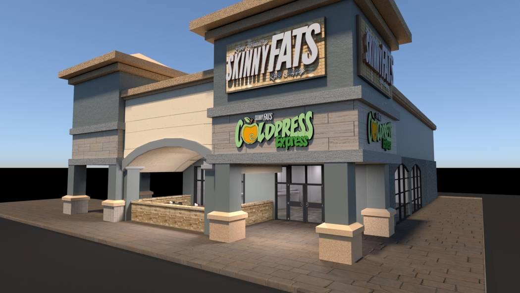 Artists rendering of new SkinnyFats location.