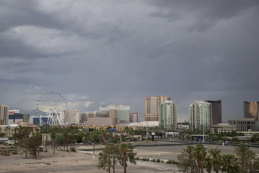 A storm passes through Las Vegas on Thursday, Aug. 24, 2017. (Richard Brian/Las Vegas Review-Journal) @vegasphotograph